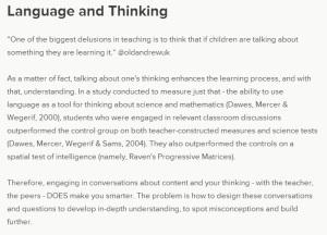 language thinking