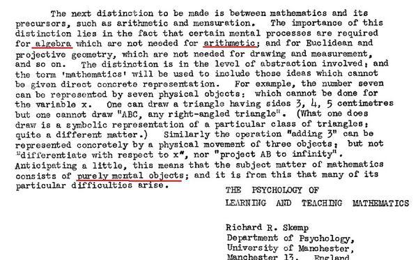 mathematics in the primary school skemp richard r
